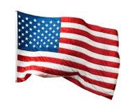 Våg amerikanska flaggan Royaltyfri Bild