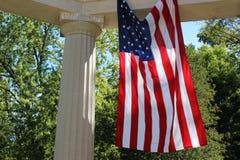 Våg amerikanska flaggan Arkivbilder