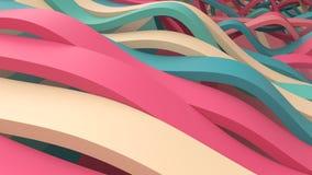 Våg av band vektor illustrationer