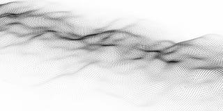Våg av partiklar Abstrakt bakgrund med en dynamisk våg Stora data också vektor för coreldrawillustration royaltyfri illustrationer