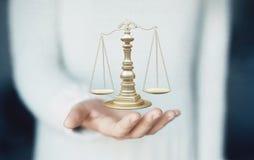 Våg av rättvisa, vikt av rättvisa förestående, lag arkivbild