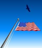 våg för örnflaggaUSA Arkivfoton