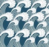 Våg för Japan hav Arkivbilder