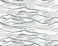 Våg för seamles för havsmodell traditionell japansk orientalisk stock illustrationer