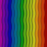Våg gjord randig regnbågefärgbakgrund Arkivfoto