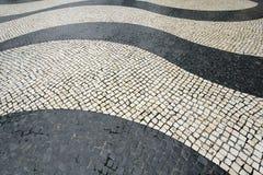 Våg-motiv tegelplattor på den Senado fyrkanten: Macao Royaltyfri Fotografi