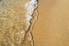 Våg- och strandbakgrund Arkivbild