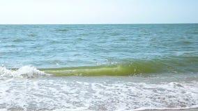 Våg på havet, hav Strand arkivfilmer