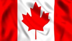 våg wind för kanadensisk flagga stock illustrationer