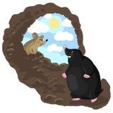 Vågbrytare och mus royaltyfri illustrationer