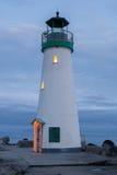Vågbrytarefyr, Santa Cruz, Kalifornien Fotografering för Bildbyråer