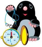 Vågbrytareinnehavkompass stock illustrationer