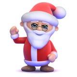 Våghälsningar till 3D Santa Claus Arkivfoto