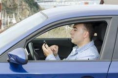 Våghalsig chaufför Danger. Arkivbilder