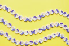Vågmodell av knappar Fotografering för Bildbyråer