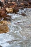 Vågor av Blacket Sea Royaltyfria Bilder