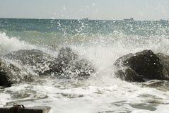 Vågor av Blacket Sea Fotografering för Bildbyråer