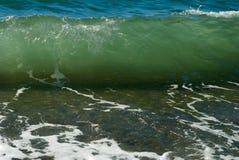Vågor av Blacket Sea Arkivfoto