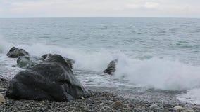 Vågor av Blacket Sea 003 arkivfilmer