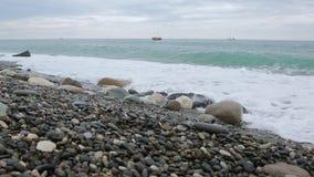Vågor av Blacket Sea 005 stock video