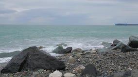 Vågor av Blacket Sea 008 arkivfilmer
