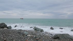 Vågor av Blacket Sea 011 lager videofilmer