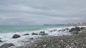 Vågor av Blacket Sea 014 stock video