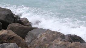 Vågor av Blacket Sea 015 arkivfilmer