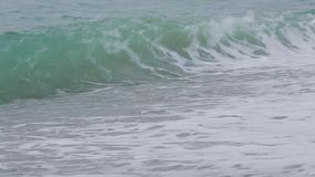 Vågor av Blacket Sea 016 stock video