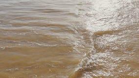 Vågor för hav hav över sandstranden arkivfilmer
