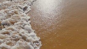 Vågor för hav hav över sandstranden lager videofilmer