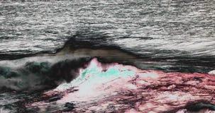 Vågor i Atlantic Ocean, Porto Moniz, madeiraö Portugal, ultrarapid lager videofilmer