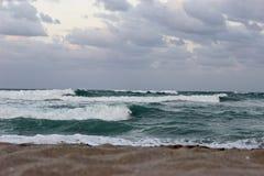 Vågor på Atlanten Arkivbild