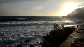Vågor på den italienska kusten lager videofilmer