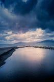 Vågor på havet, stormigt hav Royaltyfri Fotografi