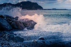 Vågor på havet, stormigt hav Arkivbild