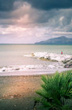 Vågor på havet, stormigt hav Royaltyfria Bilder