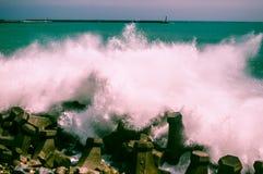 Vågor på Hualien Royaltyfria Foton