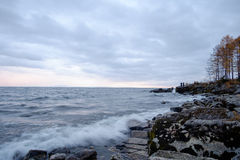 Vågor på Lake Baikal royaltyfri fotografi