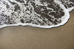 Vågor på stranden Fotografering för Bildbyråer