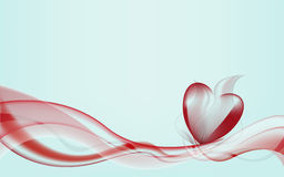 Vågor som bildar hjärta Arkivfoto