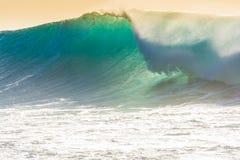Vågor som bryter på kusten av madeiran arkivbild