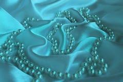Vågsatängtyg med halsbandet royaltyfri fotografi