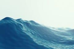 Vågslut för hav hav upp med fokuseffekter illustration 3d Arkivbilder