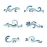 Vågsymbolsuppsättning royaltyfri illustrationer