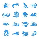 Vågsymbolsvektor vektor illustrationer