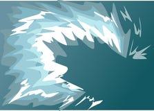 Vågvatten en tsunami Arkivfoton