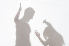 Våld av mannen mot kvinna Royaltyfri Foto