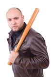 Våldsam man med baseballslagträet Royaltyfri Bild