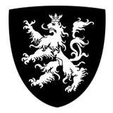 Våldsamma Lion Coat av armar vektor illustrationer